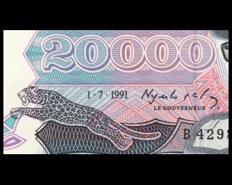 Zaïre, P-39, 20.000 zaïres, 1991, SPL / A-UNC
