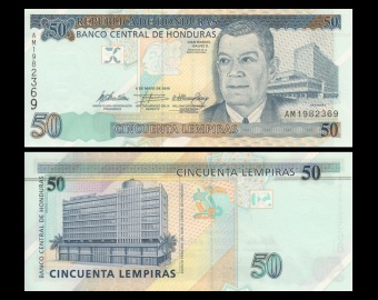 Honduras, P-094b, 50 lempiras, 2010