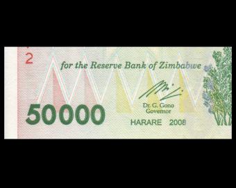 Zimbabwe, P-074a, 50 000 dollars, 2008