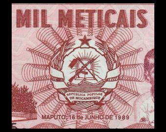 Mozambique, P-132c, 1000 meticais, 1989