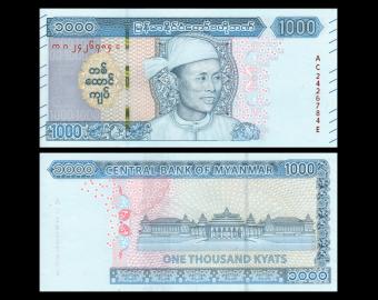 Myanmar, P-new, 1 000 kyats, 2019