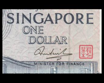 Singapore, P-09b, 1 dollar, 1976