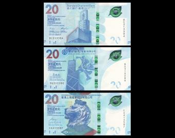 HongKong, 3 x 20 dollars, 2018