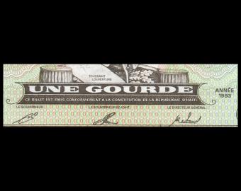 Haiti, P-259b, 1 gourde, 1993