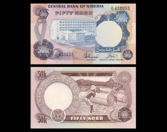 Nigeria, P-14g, 50 kobo, 1973-78