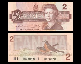 Canada, P-094b, 2 dollars, 1986