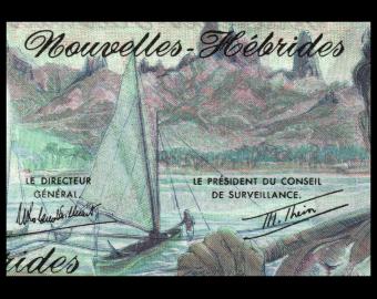 New Hebrides, P-19c, 500 francs, 1980