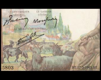 France, P-102, 1 000 francs, Demeter, 1943, Presque Neuf / a-UNC