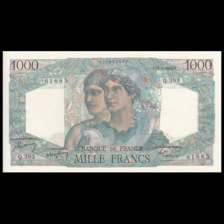 France, P-130b, 1000 francs, Minerve et Hercule, 1948, Presque Neuf / a-UNC