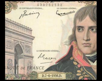 France, P-136a, 10000 francs, Bonaparte, 1956, presque Neuf / a-UNC