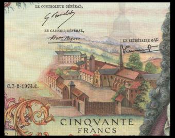 France, P-148d, 50 francs, Racine, 1974, PresqueNeuf / a-UNC