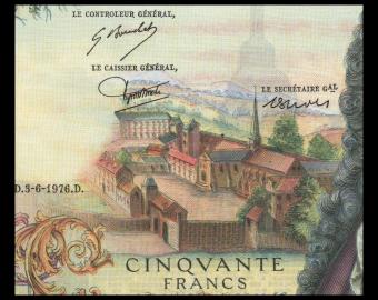 France, P-148f, 50 francs, Racine, 1976, Neuf / UNC