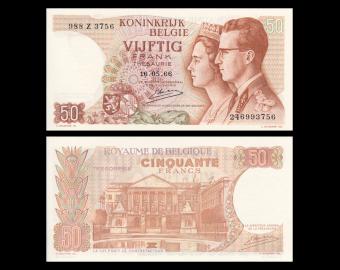 Belgique, P-139c, 50 francs, 1966