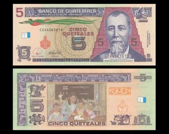 Guatemala, P-116, 5 quetzales, 2008