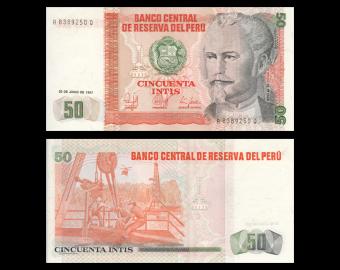 Peru, 50 intis, 1987