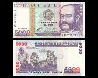 Peru, P-137, 5000 intis, 1988