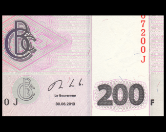 Congo, P-099b, 200 francs, 2013