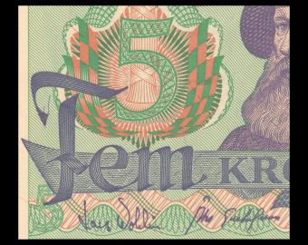 Sweden, P-51d2, 5 kronor, 1981