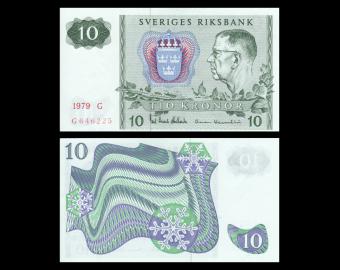 Sweden, P-52i, 10 kronor, 1979
