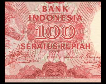 Indonésie, P-116, 100 rupiah, 1977