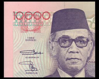 Indonésie, P-131b, 10 000 rupiah, 1993