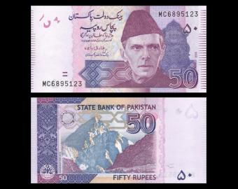 Pakistan, P-47l, 50 roupies, 2018