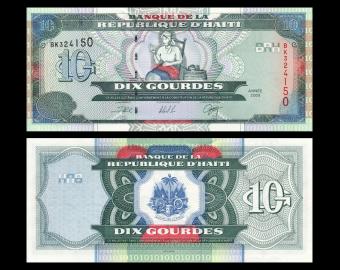 Haiti, P-265a, 10 gourdes, 2000