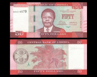 Liberia, P-34a, 50 dollars, 2016