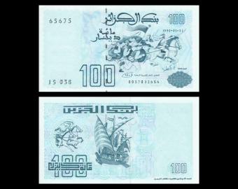 Algeria, P-137, 100 dinars, 1992