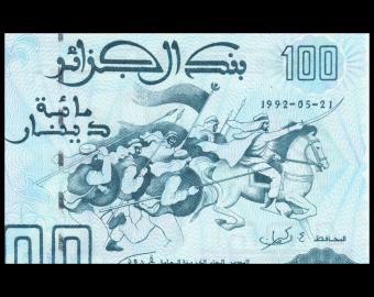 Algérie, P-137, 100 dinars, 1992