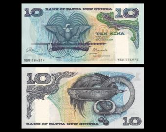 Papouasie Nouvelle Guinée, P-07, 10 kina, 1985-87