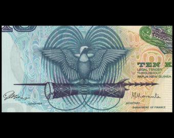 Papua New Guinea, P-07, 10 kina, 1985-87
