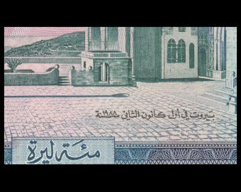 Lebanon, P-66d, 100 livres, 1988