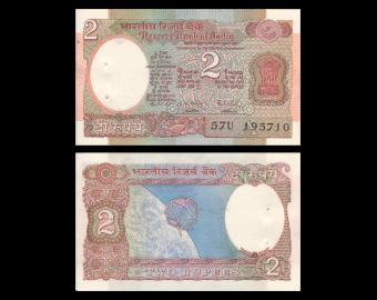 India, P-079k, 2 rupees, 1975-96