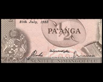 Tonga, P-18c, ½ pa'anga, 1983, Presque Neuf / A-UNC