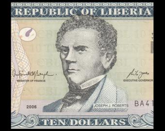 Liberia, P-27c, 10 dollars, 2006