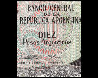 Argentina, P-313a2, 10 pesos argentinos, 1984