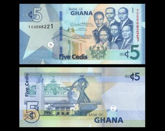 Ghana, P-46, 5 cedi, 2019