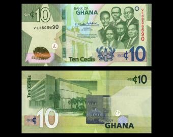 Ghana, P-47, 10 cedi, 2019