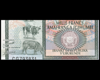 Burundi, P-46, 1000 francs, 2009