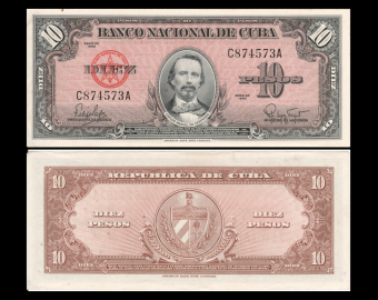 C, P-79b, 10 pesos, 1960, TTB / VeryFine