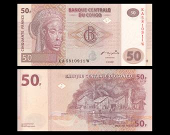Congo, P-97a, 50 francs, 2007