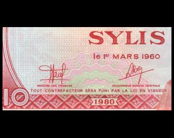 Guinea, P-23, 10 sylis, 1980