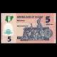 Nigeria, P-38j, 5 naira, polymer, 2019