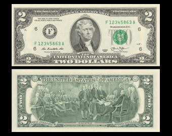 USA, P-538F, 2 dollars, Atlanta GA, 2013