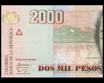 Colombia, P-457y, 2000 pesos, 2014