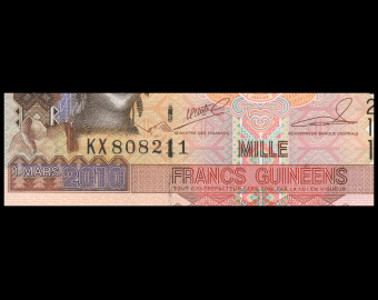 Guinea, P-43a, 1000 francs, 2010