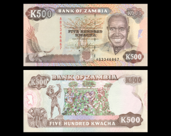 Zambie, P-35, 500 kwacha, 1991