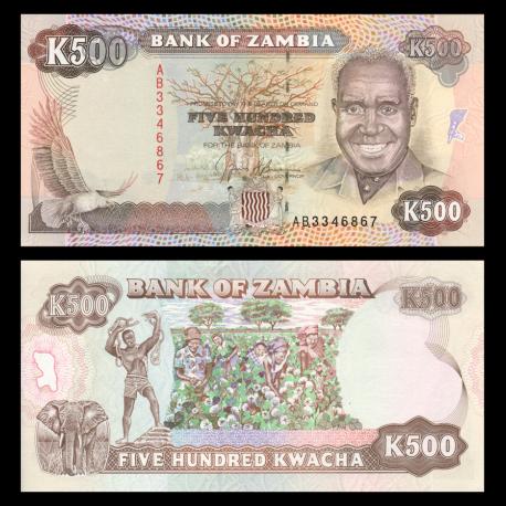 Zambia, P-35, 500 kwacha, 1991