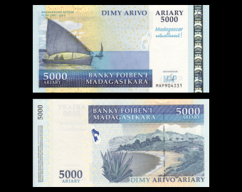 Madagascar, P-094, 5000 ariary, 2007